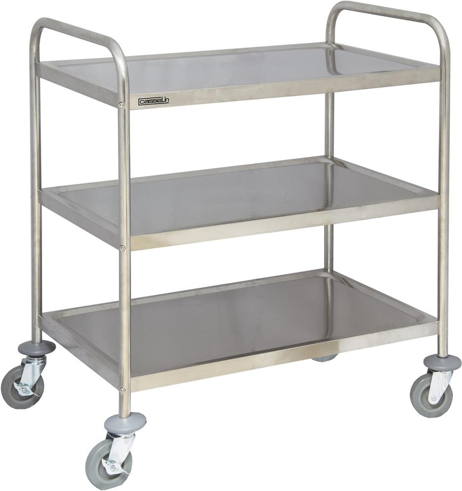 chariot inox 3 plateaux tom press. Black Bedroom Furniture Sets. Home Design Ideas