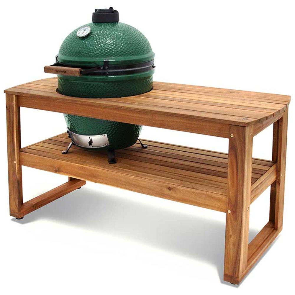 table en acacia avec support et housse pour big green egg xlarge tom press. Black Bedroom Furniture Sets. Home Design Ideas