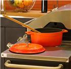 Cocotte en fonte ronde 24 cm orange