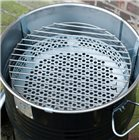 Barbecue baril métallique 40 cm braséro table d´appoint