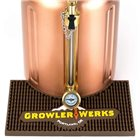Tapis de comptoir pour growler fût à pression inox de 3,8 litres