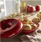 Moule à pain couronne brioche et petit pain en céramique rouge Grand Cru Emile Henry