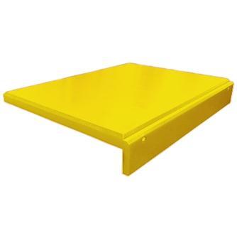 Planche à découper polyéthylène avec rebord jaune