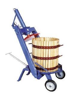Pressoir hydraulique manuel à étrier 128 litres 50 cm