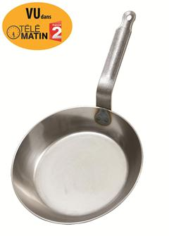 Poêle à frire en acier induction 24 cm