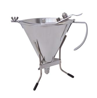 Entonnoir doseur à piston inox 1,5 l