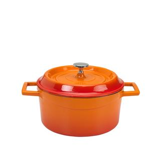 Cocotte en fonte ronde orange 20 cm