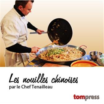 Recette des nouilles chinoises façon paella du Chef Tenailleau