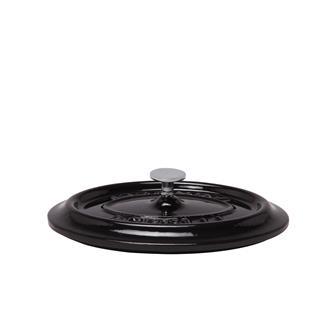 Couvercle ovale noir brillant en fonte