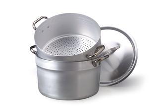 Couscoussier alu 36 cm 40 litres pour cuisson vapeur