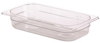 Bac gastro sans BPA GN 1/3 h. 6,5 cm en copolyester