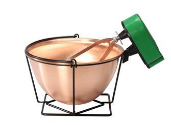 Chaudron en cuivre 12 litres avec mélangeur