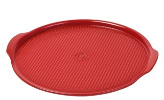 Pizza Stone 37 cm rainurée rouge Grand Cru Emile Henry