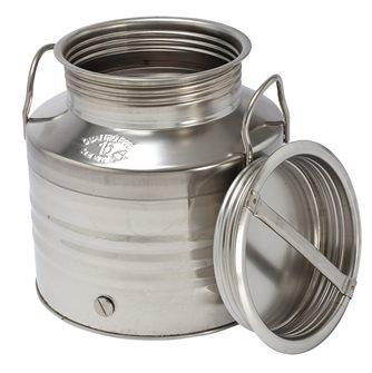 Bidon inox à huile 15 litres