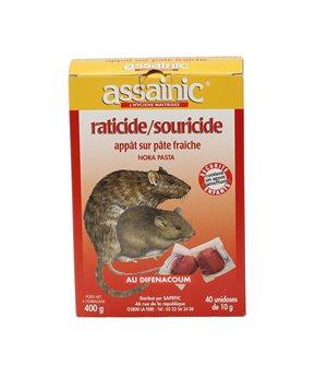 Souricide raticide à base de pâte fraîche par 400 g
