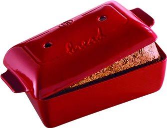 Moule à pain moulé et pain de mie en céramique rouge Emile Henry