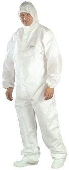 Combinaison jetable PROOF blanche et étanche pour usage court