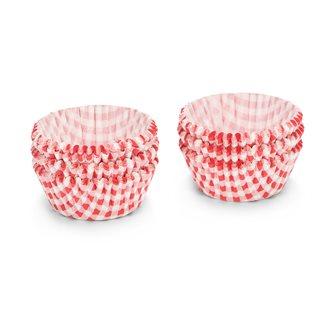 Caissettes papier à cup cake et muffin vichy rouge 5 cm par 200