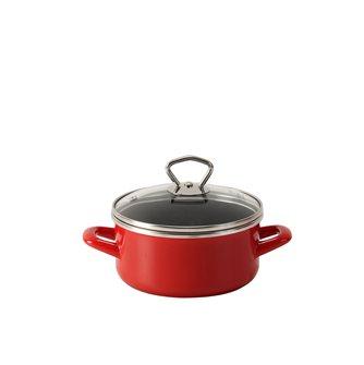 Sautoir émaillé rouge 16 cm