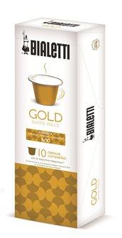 Boîte de 10 capsules de café Bialetti Gold compatibles Nespresso