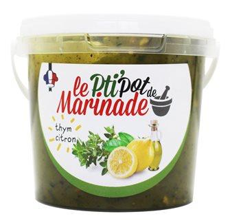 Pot de marinade liquide thym citron
