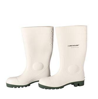 Bottes blanches de sécurité taille 45 Dunlop pour travail en cuisine et labo agro-alimentaire