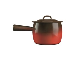 Pot à queue émaillé flamme 18 cm