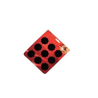Plaque silicone 9 moules à briochettes