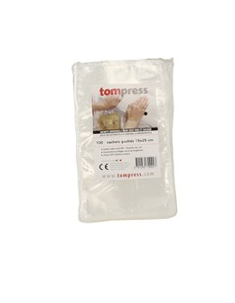 Sacs sous-vide alimentaires gaufrés Tom Press 15x25 cm par 100