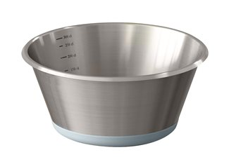 Bassine conique inox base en silicone 24 cm