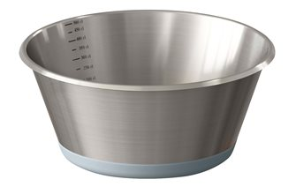 Bassine conique inox base en silicone 28 cm