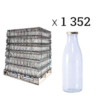 Bouteilles à jus de fruits 1 l par palette de 1352 pièces