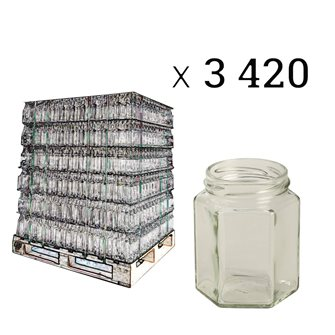Pot en verre hexagonal 195 ml par 3420