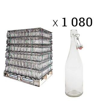 Palette de 1080 bouteilles de limonade avec bouchons mécanique