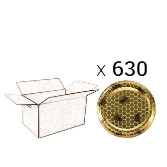 Capsules Twist-off miel abeille Diam 82 par 630