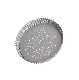 Moule à tarte perforé fond amovible antiadhésif 28 cm