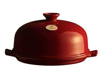 Cloche à pain 28 cm en céramique rouge Cuivre Emile Henry