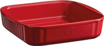 Moule à pâtisserie carré  24 cm céramique rouge Grand Cru Emile Henry