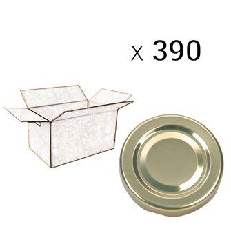 Capsules twist off dorées de 100 mm de diamètre par carton de 390