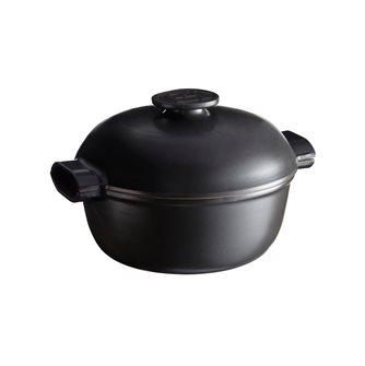 Cocotte céramique induction Delight noire Emile Henry ronde 26 cm 4 litres