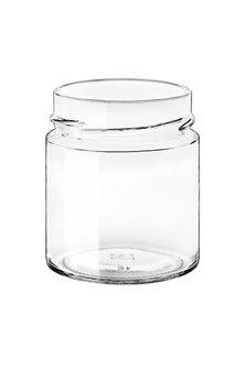 Bocal verre 225 ml diam 69 mm à capsule avec jupe haute par 24