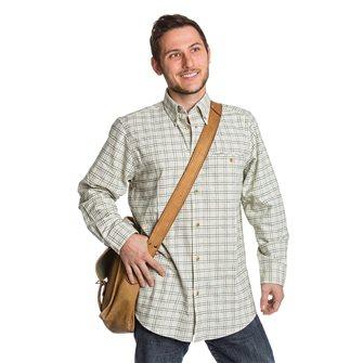 Chemise homme beige motif carreaux verts Bartavel Farmer XL