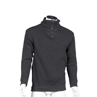 Pull col camionneur homme de travail Bartavel Isard gris anthracite M