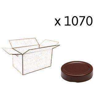 Capsule pour Bocal Jupe Haute diam 58 mm couleur marron par 1070