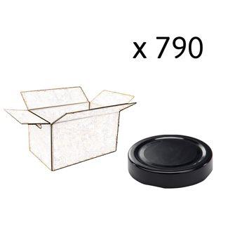 Capsule pour Bocal Jupe Haute diam 66 mm couleur noir par 790
