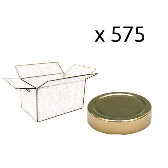 Capsule pour Bocal Jupe Haute diam 70 mm couleur or par 575