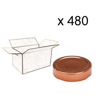 Capsule pour Bocal Jupe Haute diam 70 mm couleur cuivre par 480