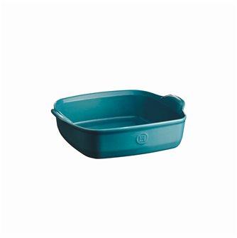 Plat à four carré 23,5 cm céramique Ultime Emile Henry couleur bleu Calanque