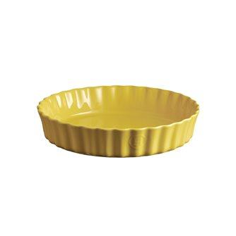 Tourtière 28 cm haute céramique jaune Provence Emile Henry