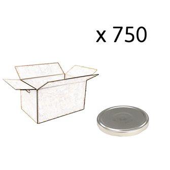 Capsules twist off couleur argent de 82 mm de diamètre par carton de 750